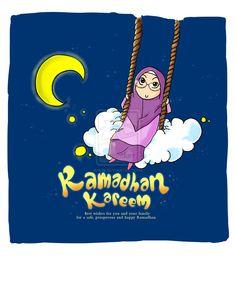 Ramadhan kareem 2011 by yusufcolors on DeviantArt Poster Ramadhan, Ramadhan Quotes, I Muslim, Anime Muslim, Ramadan, Islamic Cartoon, Islamic Messages, Allah Islam, Islamic Love Quotes