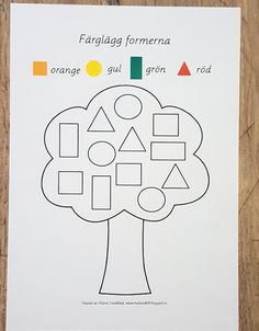 lek med geometriska former Preschool Learning Activities, Color Activities, Preschool Activities, Kids Learning, English Worksheets For Kids, Toddler School, Kindergarten Math Worksheets, Lessons For Kids, Blogg