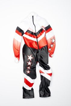 """The """"Tiger Woods suit"""" worn by Lindsey Vonn on the World Cup.  Spyder Women's Performance GS Race Suit 2016 - (996) Vonn 3."""