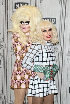 Drag queens Trixie Mattel and Katya Zamolodchikova attend Build to discuss 'The Trixie Katya Show' at Build Studio on November 1 2017 in New York City Rupaul Drag Queen, Katya Zamolodchikova, Trixie And Katya, Hairy Chest, Drag Queens, Celebrity Dads, In This World, My Idol, Male Models