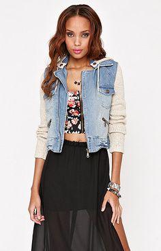 Denim/Sweater Jacket