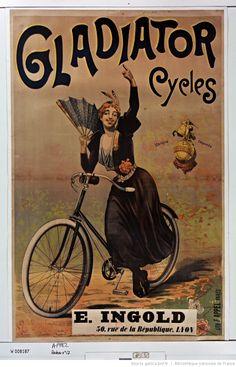 Gladiator cycles : [affiche] / [non identifié], 1880