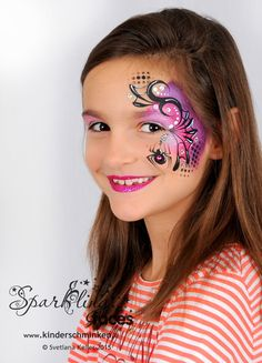 www.kinderschminken.li, Kinderschminken, Kinderschminken Vorlagen, Schminkfarben kaufen, Kinderschminken Kurse, Schminkfarben Schweiz, Svetlana Keller, face painting Spider Face Painting, Girl Face Painting, Face Painting Designs, Painting For Kids, Body Painting, Pretty Halloween, Halloween Makeup, Halloween Face, Kids Makeup