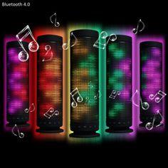 Innovative Fantasy Colorful LED Lamp MIC Wireless Bluetooth 4.0 Speaker Speakerphone Built - in Lithium Battery for Christmas Party Disco KTV Bar $37.89