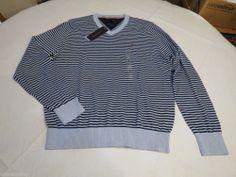 Men's Tommy Hilfiger long sleeve v neck sweater shirt 7844967 Light Blue 459 L #TommyHilfiger #sweater
