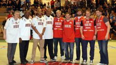 Family owned brewery, Everards, proud partners of the Leicester Riders and the Leicester Tigers put on an extravaganza for local sports fans as they brought together Leicester's sports heroes at their sponsored match on Friday night.