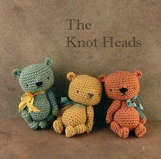 new PDF CROCHET pattern / The Knot Heads / artist miniature