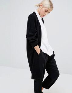 Monki+Oversized+Pocket+Detail+Cardigan