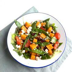 » Zoete aardappelsalade met peultjes en geitenkaas