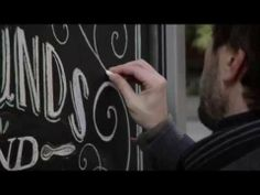Hand Drawn Chalk on blackboard - Tiza y pizarra, letras manuales