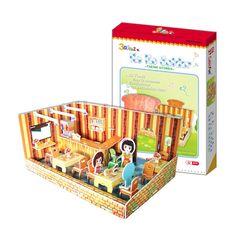 Mô hình giấy quán ăn của Ko Ko | Cubic Fun | Mô hình giấy 3D Cubic Fun | 123.vn