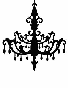 Chandelier Silhouettes!  Right click to save off. Personal USE only.  Enjoy!          And in case you missed them in framed form last...
