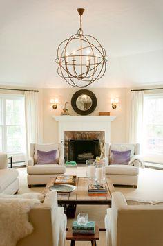 Transitional-Living-Room. [ MexicanConnexionForTile.com ] #livingroom #Talavera #handmade