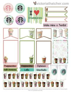 FREE Starbucks Planner Printable by Victoria Thatcher