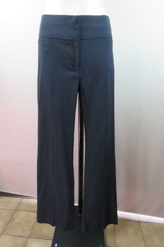 Size 14 L Portmans Ladies Black Dress Pants Trousers Cocktail Business Design