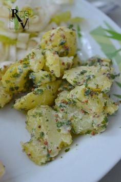Salade de Pommes de Terre à la Moutarde & Persil. Je remplace la mayo par du yaourt nature