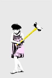 Street Art- Axe Girl - Switched at Birth Switched At Birth Bay, Movies Showing, Movies And Tv Shows, Angry Girl, Birth Photos, Book Tv, Film Serie, Sign Language, Pretty Little Liars