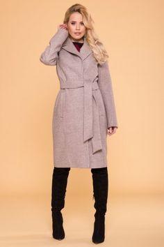 """Пальто «Лесли 6262» 41207 цвета Бежевый 31 от """"Modus"""" оптом: купить в Украине недорого - Chia Fur Coat, Street Style, Fashion Outfits, Jackets, Down Jackets, Fashion Suits, Urban Style, Street Style Fashion, Fur Coats"""