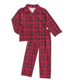 Personalized Plaid Button-Front Pajama Set 8cb47b887
