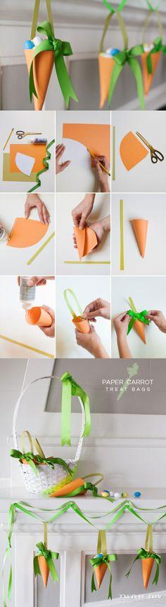 Papierowe marchewki