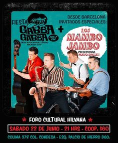 Los Mambo Jambo en México Concert Posters, Rock N Roll, Rockabilly, June 22, Bands, Trendy Tree, Rock Roll, Rock Style, Gig Poster