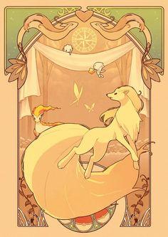 Ninetales, Milotic, Togetic & Ponyta