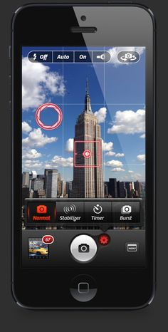 Camera+ replaces the built in photo app. Available for iPhone and iPad. Photos sync between devices using iCloud.