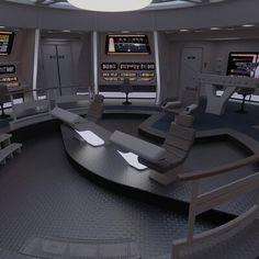 Spaceship Interior, Futuristic Interior, Spaceship Design, Imperial Dreams, Star Trek Bridge, Star Trek Starships, Bridge Design, Star Trek Ships, Star Trek Voyager
