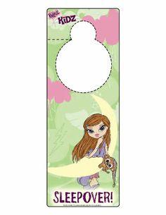 Kids-n-fun   Crafts Doorhangers Doorhanger Bratz 4