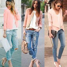 Blazer rosa pastel