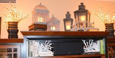Image result for ideas for decorating the top of an entertainment center