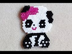 So I thought that today I would share another brick stitch video with you! I created this pattern a good few months ago, and then I took a brick stitch break. Jewelry Patterns, Beading Patterns, Crochet Patterns, Mouse Crafts, Beaded Animals, Bead Earrings, Animal Earrings, Animal Jewelry, Pony Beads