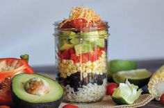 7-Layer Mexican salad, mix with fresh lettuce. Hello cheap Chipotle!