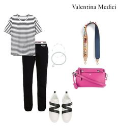 """BW & PINK"" by valentinamedici on Polyvore featuring moda, Tiffany & Co., Fendi e Valentino"