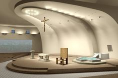 Cute Modern Church Interior Design Along With Hardwoord Amp Tile ...