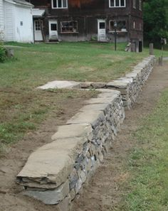 low stone retaining wall - Google Search