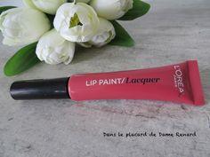 Swatch et avis de l'infaillible lip laqué/ lip paint lacquer L'Oréal en teinte DArling Pink
