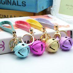 Christmas Bell Matal Keychain Keyring Purse Bag Charm Pendant Key Ring Car Key