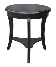 Take a look at this Espresso Round Accent Table by home basics on #zulily today!
