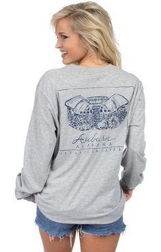 Auburn Stadium Tee - Long Sleeve – Lauren James Co.