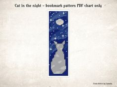 Diy Christmas Cards, Xmas Cards, Cross Stitch Bookmarks, Cross Stitch Patterns, Fabric Patterns, Counting, Night, Cats, Pdf