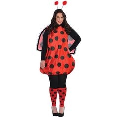Drive your friends dotty in our Darling Ladybug Costume! Adult Darling Ladybug Costume Plus Size includes a romper, headband, wings and matching leg warmers. Halloween Costumes Plus Size, Plus Size Costume, Adult Costumes, Halloween Ideas, Animal Costumes, Halloween Horror, Halloween Halloween, Halloween Decorations, Halloween Office