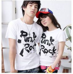 Letter Print Cotton Couples' Tee on BuyTrends.com, only price $5.07