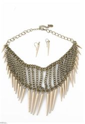 Spiked And Ready Necklace Set $16