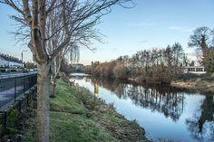 River Liffey: Newbridge - County Kildare (Ireland) My Town, North West, Ireland, Country Roads, River, Nature, Naturaleza, Irish, Nature Illustration