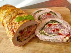 Pieczeń świąteczna - Blog z apetytem Pork Recipes, Cooking Recipes, Homemade Sandwich, Kebab, Vegetable Casserole, Good Food, Yummy Food, Xmas Food, Polish Recipes