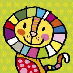 AM12 > Leeuwinnetje Art Drawings For Kids, Drawing For Kids, Animal Drawings, Cute Drawings, Art For Kids, Arte Pop, Painting For Kids, Painting & Drawing, Art N Craft