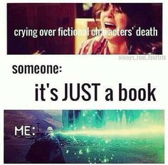 When someone tell you it's JUST a book = bookworm problems.