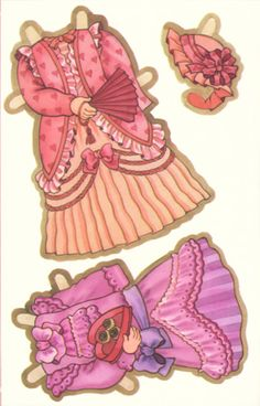 Valentine Paper Doll Cards - Vicky 2