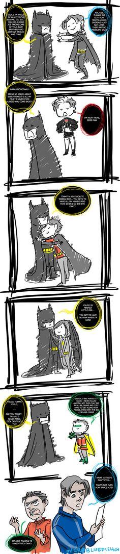 Damian Needs A Hug by ~Microbluefish on deviantART
